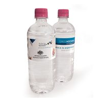 600ml Natural Spring Water with Pink Cap. H-BSW600mlPC
