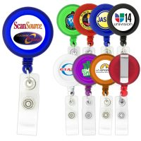 Round-Shaped Retractable Badge Holder. H-K301