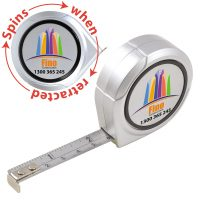 Spinning Logo Tape Measure. LL866