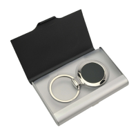 Ebony Key Ring Business Card Holder Set. D-KRO004