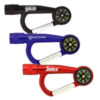 Flashlight Carabiners with Compass. H-L332