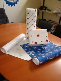 Printed wrapping paper. S-WP