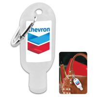Hand Sanitiser Gel with Carabiner. Product Code: H-H304