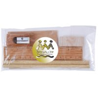 Bamboo Stationery Set in Cello Bag. LL2134
