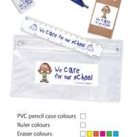 Stationery Set in PVC Pencil Case. LL4442