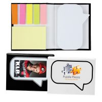 Speech Bubble Notepad with Flags. LL8132