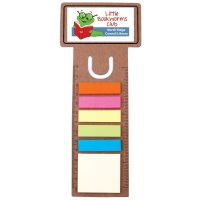 Business Card Bookmark / Ruler with Noteflags. LL8868