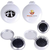 Compact Pop Up Brush / Mirror Set. LL1634